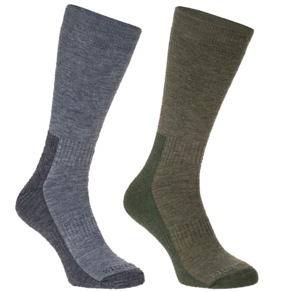 Silverpoint Ladies Merino Wool All Terrain Socks x 2 Walking Hiking Trekking